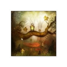 "Fairy Woodlands 3 Square Sticker 3"" x 3"""