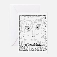 ADifferentFace Greeting Card