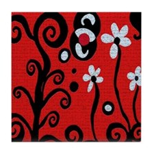 Red Retro Tile Coaster
