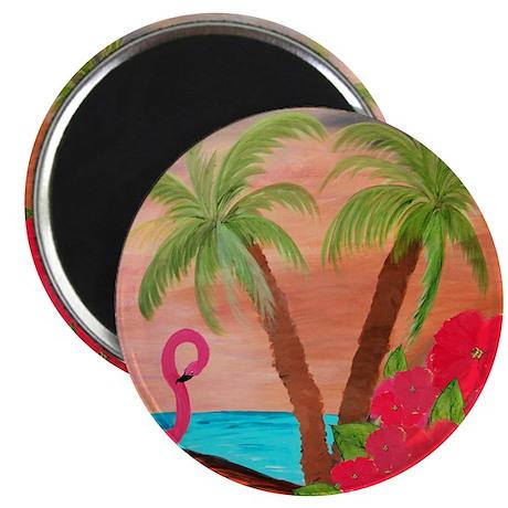 Flamingo in Paradise Magnet