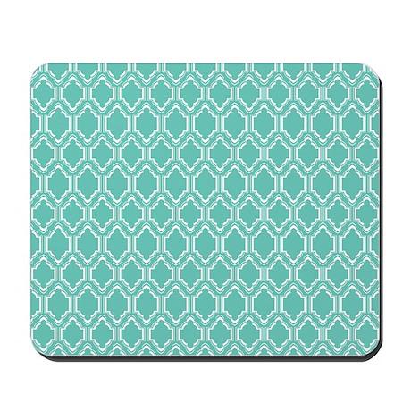 Aqua Geometric Mousepad