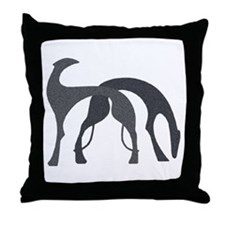 Hounds Pillow Charcoal