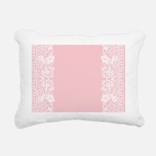 Light Pink Damask Rectangular Canvas Pillow