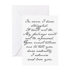 4 Jane Austen Prop... Greeting Card