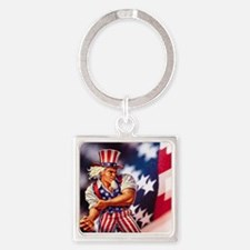Time to take back America Square Keychain
