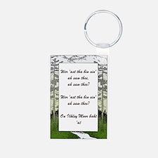 Ilkley Moor Poem Keychains