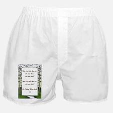 Ilkley Moor Poem Boxer Shorts