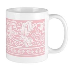 Light Pink Damask Small Mug