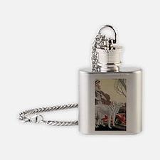 Borzoi Stroll Flask Necklace