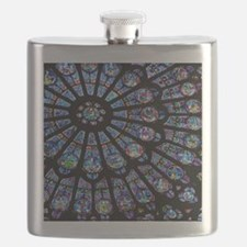 Stained glass window Notre Dame Flask