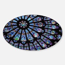 Stained glass window Notre Dame Decal