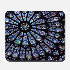 Stained glass window Notre Dame Mousepad