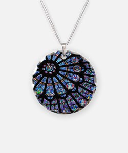 Stained glass window Notre D Necklace