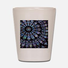 Stained glass window Notre Dame Shot Glass