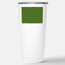 Red Cherries on Green Travel Mug