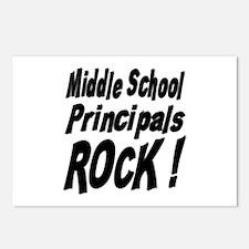 Middle School Principals Rock ! Postcards (Package