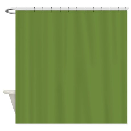 Solid Olive Green Shower Curtain By Theshowercurtain