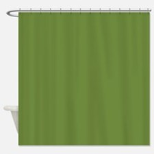 Solid Olive Green Shower Curtain