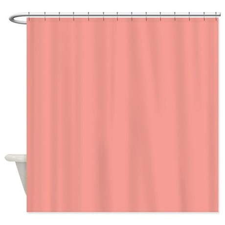Solid Salmon Shower Curtain By Theshowercurtain