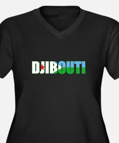 Djibouti Women's Plus Size V-Neck Dark T-Shirt