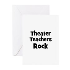 Theater Teachers Rock Greeting Cards (Pk of 10
