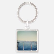 Dock of the Bay Square Keychain