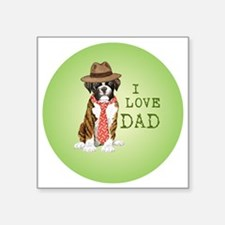 "boxer dad Square Sticker 3"" x 3"""