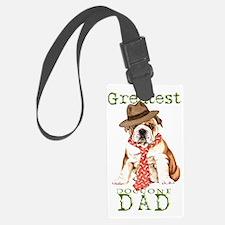 bulldog dad1 Luggage Tag