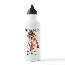 bulldog dad1 Water Bottle