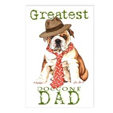 bulldog dad1 Postcards (Package of 8)