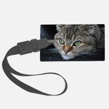 Noodles the cat thinking about y Luggage Tag