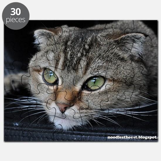 Noodles the cat thinking about you - postca Puzzle