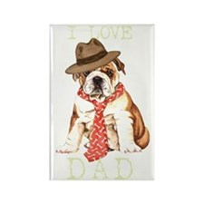bulldog dadT Rectangle Magnet