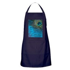 Purple and Teal Peacock Apron (dark)