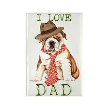 bulldog dad Rectangle Magnet