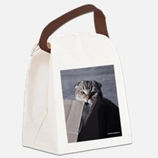 Noodles the cat - moving box Canvas Lunch Bag