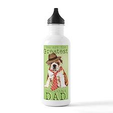 bulldog dad-card Water Bottle