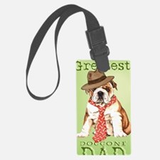 bulldog dad-card Luggage Tag