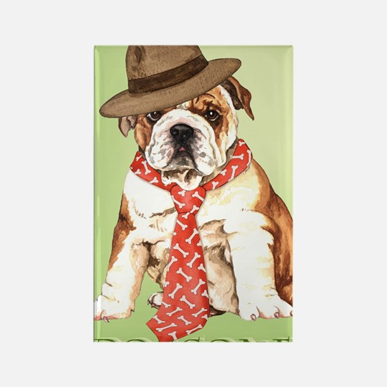 bulldog dad-card Rectangle Magnet