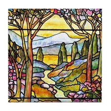 Tiffany Landscape Window Tile Coaster