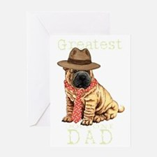 sharpei dad1T Greeting Card