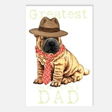 sharpei dad1T Postcards (Package of 8)