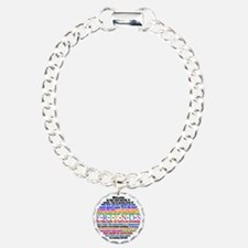 friendsquotes2button Charm Bracelet, One Charm