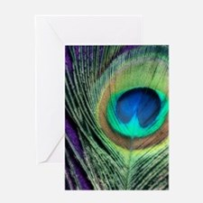 Peacock Purple Orton Greeting Card