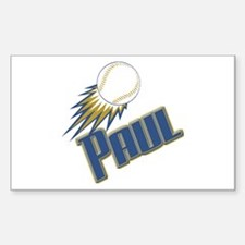 Personalized Paul Rectangle Decal