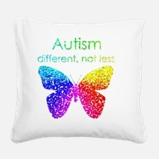 Autism Butterfly, different,  Square Canvas Pillow