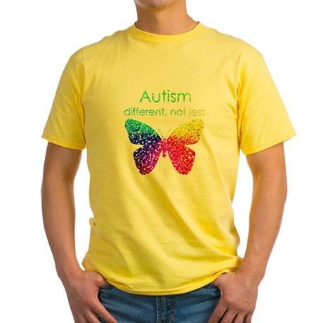 Autism Butterfly, different, not le Yellow T-Shirt