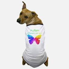 Autism Butterfly, different, not less Dog T-Shirt