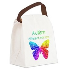 Autism Butterfly, different, not  Canvas Lunch Bag