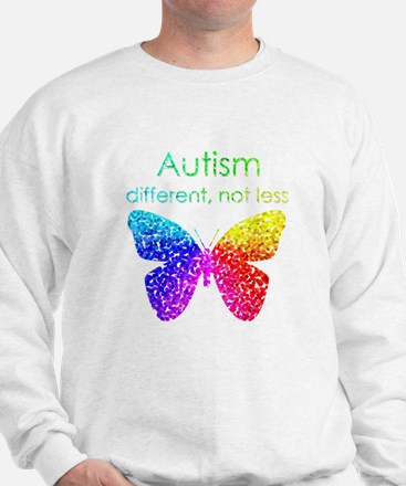 Autism Butterfly, different, not less Sweater